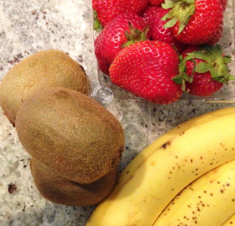 ice cream vegan dairy free strawberry kiwi